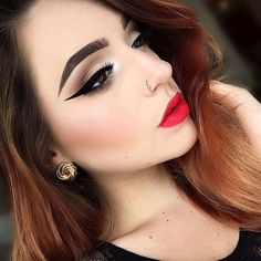 Eye Makeup for Red Lips 14