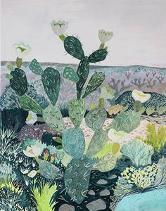 Today's CRUSH post is all about the beautiful work of artist, illustrator and surface designer Michelle Morin. I'm completely in love with her gouache and watercolour paintings of nature! Flowers and foliage illustration Gouache Painting, Watercolor Paintings, Watercolour, Tree Study, Prickly Pear Cactus, Guache, Desert Plants, Nature Paintings, Watercolor Illustration
