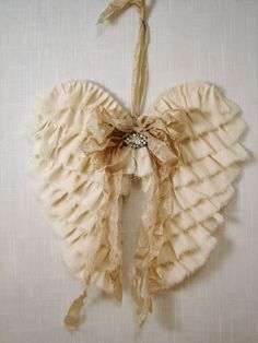 Fabric Angel wings, i  wish i knew someone that could make me some of these!! i love this,so much