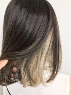 Hidden Hair Color, Two Color Hair, Hair Color Streaks, Hair Dye Colors, Hair Highlights, Hair Color Underneath, Blonde Hair With Brown Underneath, Cabelo Inspo, Underdye Hair