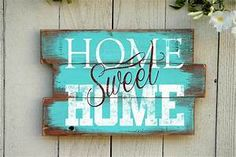 Home Sweet Home Wood Pallet Sign Reclaimed Wood by ...