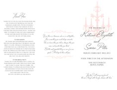 wedding program covers templates