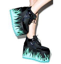 Y.R.U. Qozmo Lo Heat Platform Sneakers  This would be PERFECT for an Ember cosplay from Danny Phantom!!