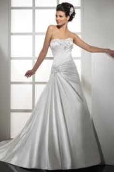 The Perfect Wedding: silver and white wedding dress