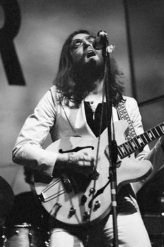 John Lennon rocking with his Epiphone Casino guitar / Plastic Ono Band, 1969.