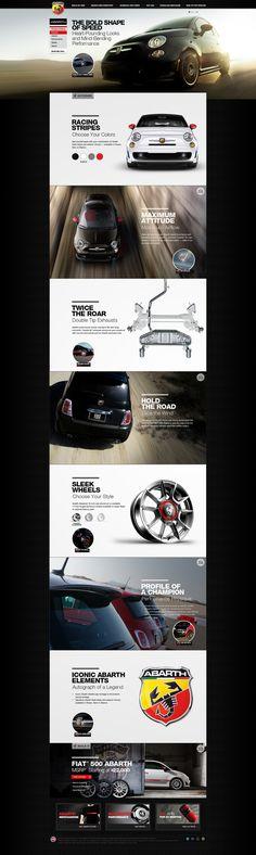 Fiat 500 Abarth Website Design on Web Design Served