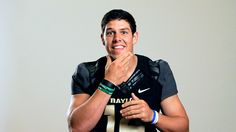 """ESPN story: """"#Baylor quarterback Bryce Petty is the best offensive player in the Big 12... Beloved by his community in Waco, where he volunteers regularly and runs a Bible study. He will finish his master's in December. ... What is Petty hiding? ESPN attempted to find out. Here's the real scandalous stuff."""""""