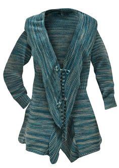 Veja agora:Tricô é chic! Cardigã fashion, com babados, garante uma produção perfeita! Tipo poncho. Comprimento de aprox. 82cm no tam. M.