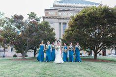 Soldiers & Sailors Memorial Hall & Museum | Pittsburgh Wedding Venue | Wedding Reception | Wedding Ceremony | Historic Wedding |Anyelika & Justin | July Wedding | Pink and Blue Wedding | Photo Ashley Giffin Photography | Bridesmaids
