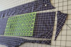 Mamaka Mills Recycled and Custom Memory Quilts: How to Break Down a Shirt to Use in a Memory Quilt with Recycled Clothing...