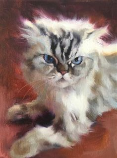 Cat Sketch, Raining Cats And Dogs, Watercolor Cat, Cat Crafts, Pastel Art, Art Studies, Dog Portraits, Pictures To Paint, Fine Art Gallery