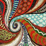 What I imagine some of my swirly artwork would look like in mosaic form
