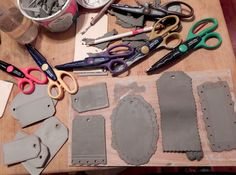 Summerland Cottage Studio: Pink confections Use special scissors to cut clay