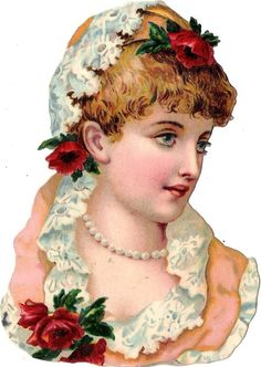 Glanzbilder - Victorian Die Cut - Victorian Scrap - Tube Victorienne - Glansbilleder - Plaatjes : Frau - woman - femme