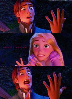 Disney Princess Photo: Rapunzel and Flynn Disney Rapunzel, Rapunzel And Eugene, Tangled Rapunzel, Tangled Movie, Disney And Dreamworks, Disney Pixar, Walt Disney, Disney Couples, Disney Bound