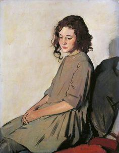 birdcagewalk:    colourthysoul:Philip Naviasky (1894-1983) - Rose. Oil on Canvas, 91.4 x 71.1cm