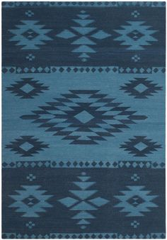 RLR2723B Laurel Canyon Rug from Ralph Lauren collection.  This over scaled design is inspired by a vintage Native American trading blanket and is woven in a traditional rustic wool and cotton durries quality. Debu