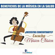 Avanza la mañana y ¿No puedes concentrarte? ¡Escucha música clásica!   Beneficios de la Música  Es efectiva para bajar los niveles de estrés  Ayuda a recuperar más rápido a los enfermos  Es eficaz para reducir diferentes tipos de dolores  Mejora la concentración  Genera Bienestar  #Musica #Salud #Prevencion #Concentracion #Medicina #Colombia #Siguenos #RedesSociales  http://bit.ly/1RyYywX