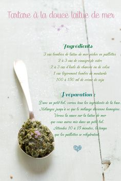 Faire & personnaliser son tartare d'algues maison Sans Gluten Vegan, Parfait, Allrecipes, Hummus, Pesto, Dips, Garlic, Vegetarian, Vegetables