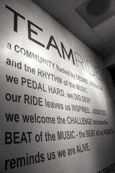 Lobby Mantra #spin #fitness #cycling #TEAMride