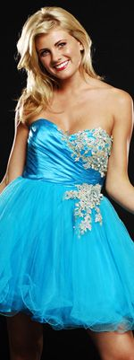 Floral Satin And Tulle Applique Sweetheart Prom Dress-Size 0-14