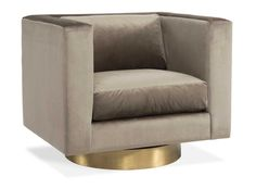 Buy Carson Swivel Chair by Gilded Home - Quick Ship designer Furniture from Dering Hall's collection of Contemporary Mid-Century / Modern Transitional Swivel Chairs