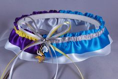 "Custom ""House Divided"" NFL garter.  <3!!"