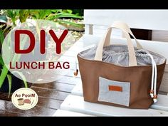 How to make lunch bag. Diy Summer Clothes, Summer Diy, Diy Clothes, Lunch Bag Tutorials, Patchwork Bags, Fabric Bags, Cloth Bags, Bag Making, Purses And Bags