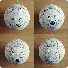 DIY animal ornaments.