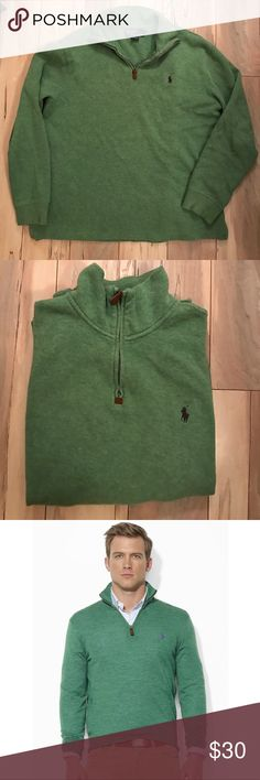 Polo by Ralph Lauren pullover Gently worn Polo by Ralph Lauren Unisex Pullover #green #Polo #RalphLauren #pullover Polo by Ralph Lauren Sweaters Zip Up