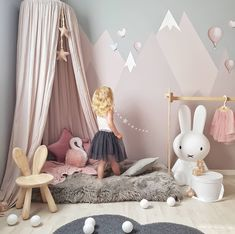 Miffy lampe, big girl bedrooms, girls bedroom canopy, little girl rooms Baby Bedroom, Baby Room Decor, Nursery Room, Girl Nursery, Girls Bedroom Canopy, Kid Bedrooms, Room Baby, Miffy Lampe, Kids Room Design