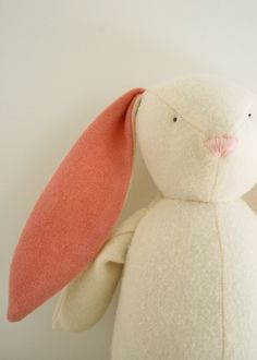 DIY a charming fabric plush bunny.