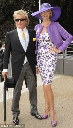 Rod and Penny lead the field at Royal Ascot... but isn't that a bit of a boring hat on Ladies' Day Mrs Stewart?