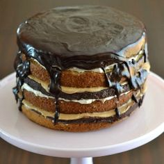 There are no words for this....Layers and layers of cake, cookie, ganache, speculoos and marshmallow come together in the ultimate cake!