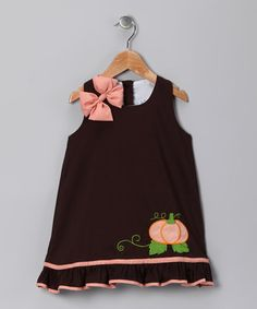 Idea for dress for K for fall or christmas - like the details.