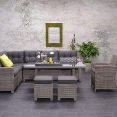 Stunning Polyrattan Lounge Gruppe BRISTON Rattan Loungem bel u Lounge Dining Garnituren von