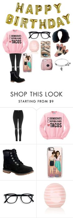 """""""HAPPY BIRTHDAY BFF!!❤️💕😘😝"""" by babycomics ❤ liked on Polyvore featuring Topshop, Talking Tables, Timberland and Casetify"""
