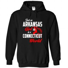 ARKANSAS-CONNECTICUT Girl 05Red - #gifts for girl friends #gift ideas. SAVE => https://www.sunfrog.com/States/ARKANSAS-2DCONNECTICUT-Girl-05Red-Black-Hoodie.html?68278