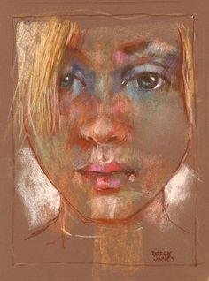 still enjoying pastel by derekjones on DeviantArt Pastel Drawing, Pastel Art, Pastel Paintings, Portrait Images, Portrait Art, Graffiti, Pastel Portraits, Chalk Pastels, Soft Pastels