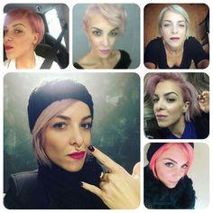 Pink #silver # violet #hair