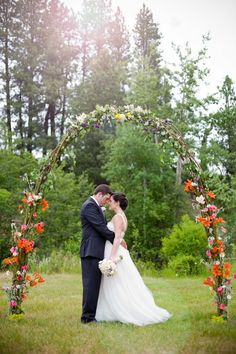 Wedding Arch. If you can't have trees bring the trees to you.
