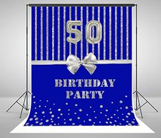 50th Birthday Party Decorations, Birthday Backdrop, Birthday Parties, Photography Backdrops, Black Friday, Bows, Photoshoot, Amazon, Anniversary Parties