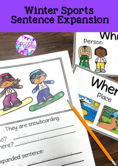 Engage your students with these Winter Sports theme booklets that target sentence expansion skills.