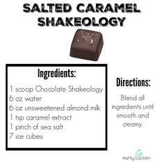 Don't Be Tricked, Choose the Right Treat: Candy Bar Shakeology Recipes - Salted Caramel Shakeology
