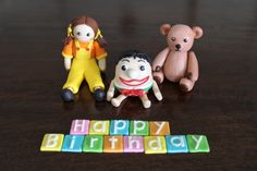 Playschool cake toppers. Jemima, Humpty Dumpty & Little Ted. Made with homemade marshmallow fondant