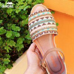 Que tal essa rasteira para um look casual e charmoso? (Z0072) #dakotanarede