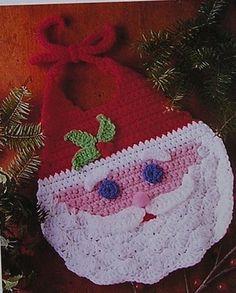 Santa Bib Baby Infant Crochet