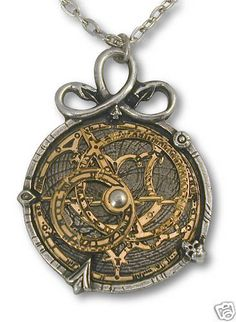 ~ Astrolabe Brass Steampunk Necklace ~