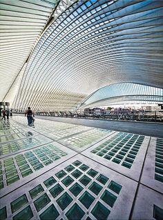 Train staion Les Guillemins, Liege, Belgium designed by Santiago Calatrava