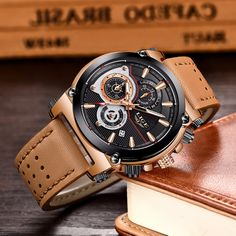 2018 New LIGE Men's Watches Brand Luxury Quartz Gold Watch Men Leather Casual Military Waterproof Sport Watch Relogio Masculino. Cheap Watches For Men, Cool Watches, Men's Watches, Silver Pocket Watch, Pocket Watch Antique, Old Pocket Watches, Waterproof Sports Watch, Mens Watch Brands, Popular Watches